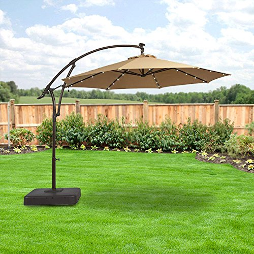 Garden Winds LED Offset Solar Umbrella Replacement Canopy Top Cover