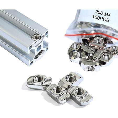 50x Hammer Head T-Slot Stone Block Sliding Nut M4-M6 for European aluminum profiles