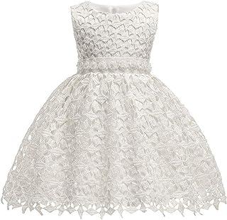 KINDOYO Newborn Baby Girls Sleeveless Ball Gown - Infant Gifts Princess Wedding Tulle Dresses Birthday Festival Performance Dress, Beige, 18M