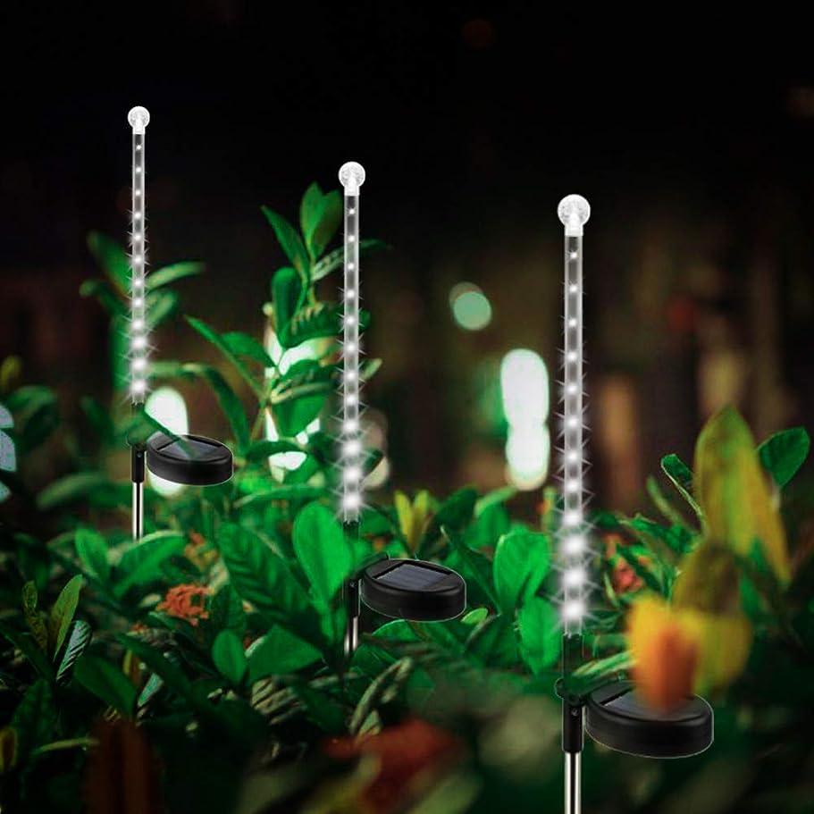 中古退屈特異な飾りちょうちん ソーラー ガーデン ライト 2本セット 地中埋込型ライト ソーラー充電 防水 パスライト 自動点灯消灯 ツラライルミネーション 車道 玄関 植え込み 歩道 芝生 庭 ガーデン 屋外などに適応 ホワイト