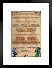 Pyramid America Zelda Ocarina of Time Songs of The Ocarina Action Adventure Video Game Nintendo Matted Framed Poster 20x26 inch