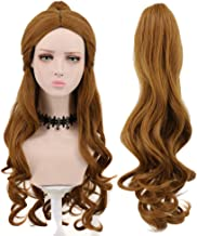 Yuehong Women's Long Big Wavy Brown Cosplay Wigs With Ponytail For Halloween