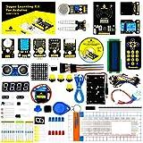KEYESTUDIO Conjunto Mas Completo y Avanzado de Iniciación Compatible con Arduino IDE con Motor Paso a Paso, Guías Tutorial, Compatible con Arduino IDE para R3 con, MEGA2560, Nano, Raspberry Pi