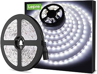 LE 16.4ft LED Flexible Light Strip, 300 Units SMD 2835 LEDs, 12V DC Non-Waterproof, Light Strips, LED Ribbon, Christmas Ho...