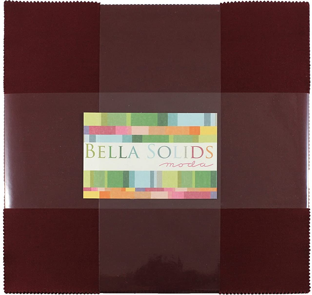 Bella Solids Burgundy Junior Layer Cake 20 10-inch Squares Moda Fabrics 9900JLC 18