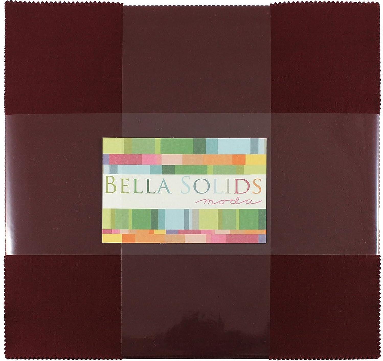 Bella Solids Burgundy Junior Layer Cake 20 10-inch Squares Moda Fabrics 9900JLC 18