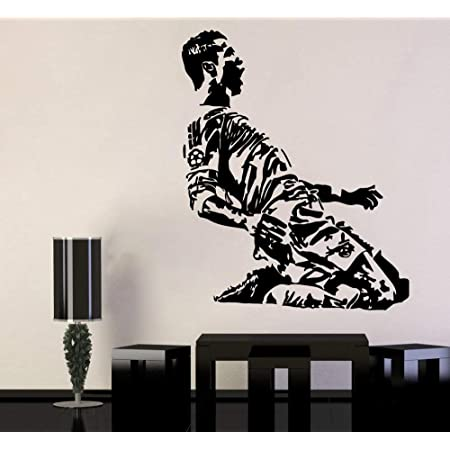 Ronaldo Football Real Madrid Quote Wall Stickers Art Room Removable Decals DIY