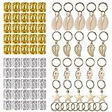 Dreadlocks Accessoires, PChero Bijoux de Cheveux Tresse en Aluminium Dreadlocks Perles Anneaux pour Mariage, Partie, Spectacle - 80pcs