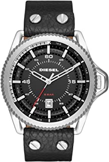 Diesel Men's DZ1790 Rollcage Stainless Steel Black Leather Watch