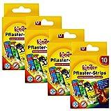 com-four® 40x Intonaci idrorepellenti per Bambini - Strisce di Gesso colorato per Bambini - Set di gessi con Motivi Animali - Testato clinicamente