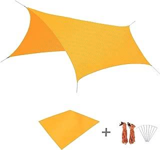 YAPJEB Waterproof Camping Tent Tarp Hammock Rain Fly Beach Shelter Footprint Groundsheet Picnic Blanket Mat Sunshade