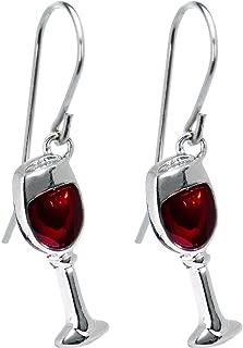 grape earrings wine