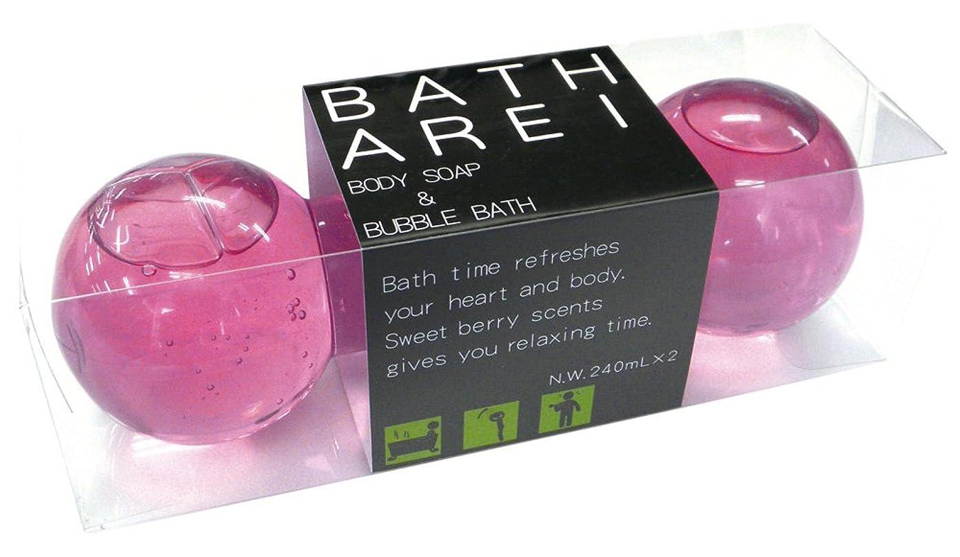 申し込むランチョン自治的ノルコーポレーション バブルバス&ボディソープ ダンベル バスアレイ ストロベリーの香り OB-ARE-2-2