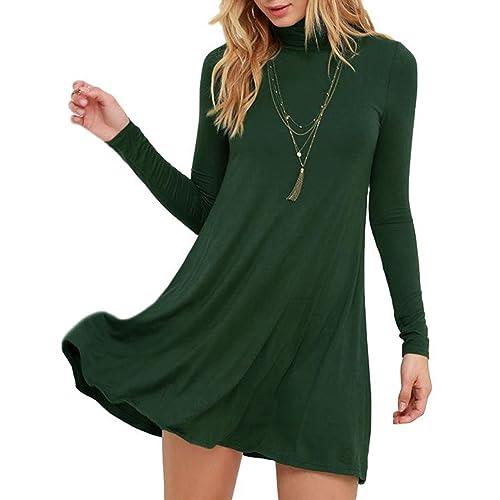 3b21c93c2f7d Long Sleeve Olive Green Dress  Amazon.com