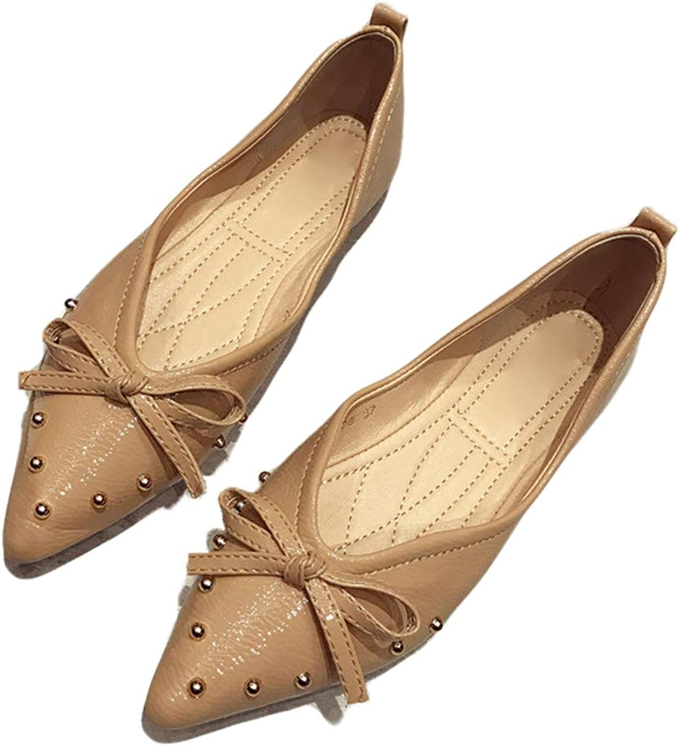 Kyle Walsh Pa Women Casual Flats Bow-Knot Pointed Toe Female Autumn Spring Moccasins shoes