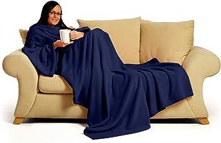 Snug-Rug Deluxe Blanket with Sleeves (Navy)