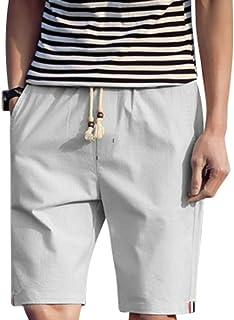 [アルファーフープ] メンズ 5 分 丈 ハーフ ショート パンツ 無地 柄 短パン 半 ズボン 大きい サイズ T78