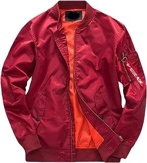 Mens Coats Warm Long Sleeve Zipper Military Flight Jacket Outwear Tops Overcoat