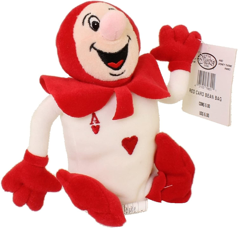 Disney Alice in Wonderland 7  Red Card Bean Bag Plush by Disney
