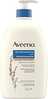Aveeno Skin Relief Moisturizing Body Lotion With Natural Shea Butter & Triple Oat Complex, Unscented Moisturizer for Extra...