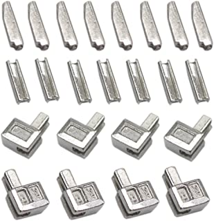 YaHoGa 20 Sets #5 Metal Zipper Latch Slider Retainer Insertion Pin Zipper Bottom Zipper Stopper for Metal Zipper Repair (Silver)
