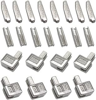 YaHoGa 20 Sets #5 Metal Zipper Latch Slider Retainer Insertion Pin Zipper Bottom Zipper Stopper for Metal Zipper Repair (Silver)