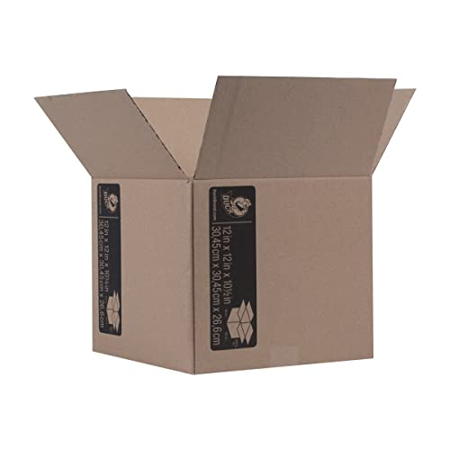 """Duck Brand Kraft Corrugated Shipping Boxes, 12"""" x 12"""" x 10.5"""", Brown, 6-Pack (281503)"""