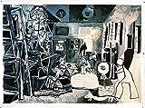 AMANUO Picasso Pinturas al Óleo sobre Lienzo Pintadas a Mano 150X115 cm Abstracto Cuadros Enrollada - Las Meninas De 1957