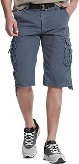 UPSTONE Men's Cotton Big & Tall Sizes Lightweight Multi Pocket Casual Cargo Shorts
