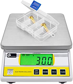 CGOLDENWALL 5kg x 0.1g Digital Precision Electronic Balance Laboratory Lab Scale Industrial Weighing and Counting Scale Table Top Scale g/ct/lb/oz/DWT/tl Multi-Units Switchable (5000g, 0.1g)