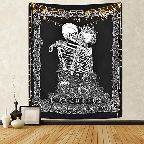 LOMOHOO Skull Tapestry The Kissi...