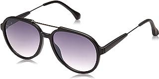 نظارة شمسية افياتور للرجال من تي اف ال - عدسات ارجوانية، طراز 25637-Black