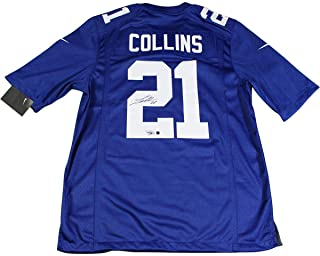 Landon Collins Signed New York Giants Blue Replica Nike Jersey - Steiner Sports Certified - Autographed NFL Jerseys