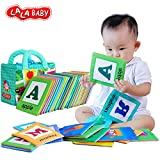 LALABABY 26 Letters Cloth Card with Cloth Bag Early Education Toy for...