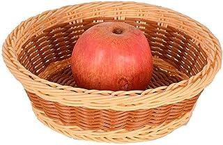 Accueil rotin Fruit Basket Creative légumes panier Salon d'arachide Melon Plate KTV Fruit AOIWE (Size : 20 * 6cm)