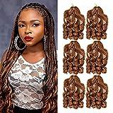 22inch French Curl Braiding Hair Loose Wavy Braiding Hair (4packs 160g/pack)Wavy Synthetic Braiding Hair For Black Women French Curly Braids Hair Extensions