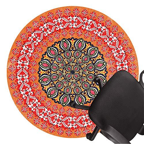 XJRS bürostuhl unterlage Bürostuhlmatten für Harte Böden rutschfeste Bodenschutzmatte Kurzer Flor Stille Teppiche Leicht Zu Reinigen(Size:80cm/31.5in,Color:B.)