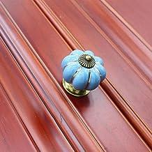 Pompoen keramische handgrepen vintage retro meubels handgrepen en knoppen kast keuken kast lade trekt handgrepen hardware-...