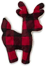 product image for West Paw Design Tiny Tuff Reindeer, Small, Holiday Squeaker Dog Toy