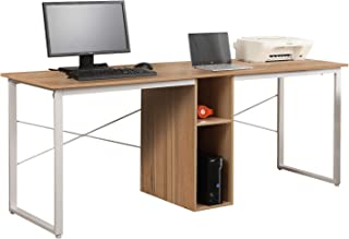 Mixcept2-Person Computer Desk with Storage, 78