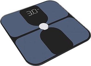 Omabeta Báscula de Grasa Corporal Inteligente Báscula de Grasa Corporal Báscula de Peso Multifuncional USB Dos potencias duraderas para el Equipaje del Centro Comercial