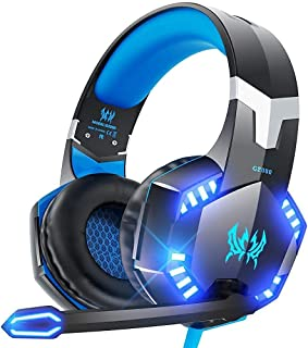VersionTECH. Gaming Headset for PS4 / PS5 Xbox One PC, G2000 Gaming Headphones with Mic, LED Lights, Noise Reduction, Ster...