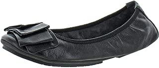 Me Too Women's Lilyana Black Leather Flat - M - 12