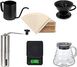 وعاء تقديم الشاي والقهوة من ميبرو في 60 مصنوع من زجاج شفاف مقاوم للحرارة ومتوفر بسعة 280/350/600/800 مل (في 60 مجموعة قهوة...