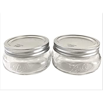 Ball Mason Jar-8 oz. Wide Mouth Squatty Collection Elite Series-Set of 2