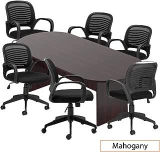 GOF 8 FT Conference Table Set (G10901), Cherry, Espresso, Mahogany, Walnut (Mahogany 7-Piece Table Set)
