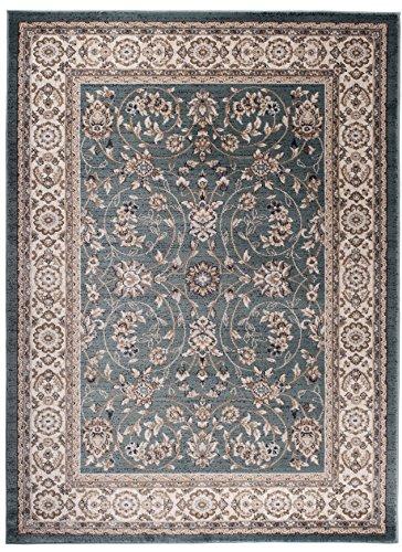 Carpeto Orientteppich Teppich Türkis 160 x 220 cm Ornamente Klassisch Muster - Wohnzimmer Schlafzimmer Esszimmer