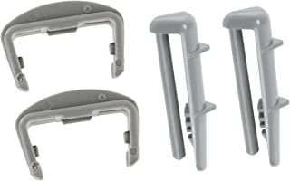 Spares2go Plastic Front + Rear Rail End Caps for Blomberg Dishwasher