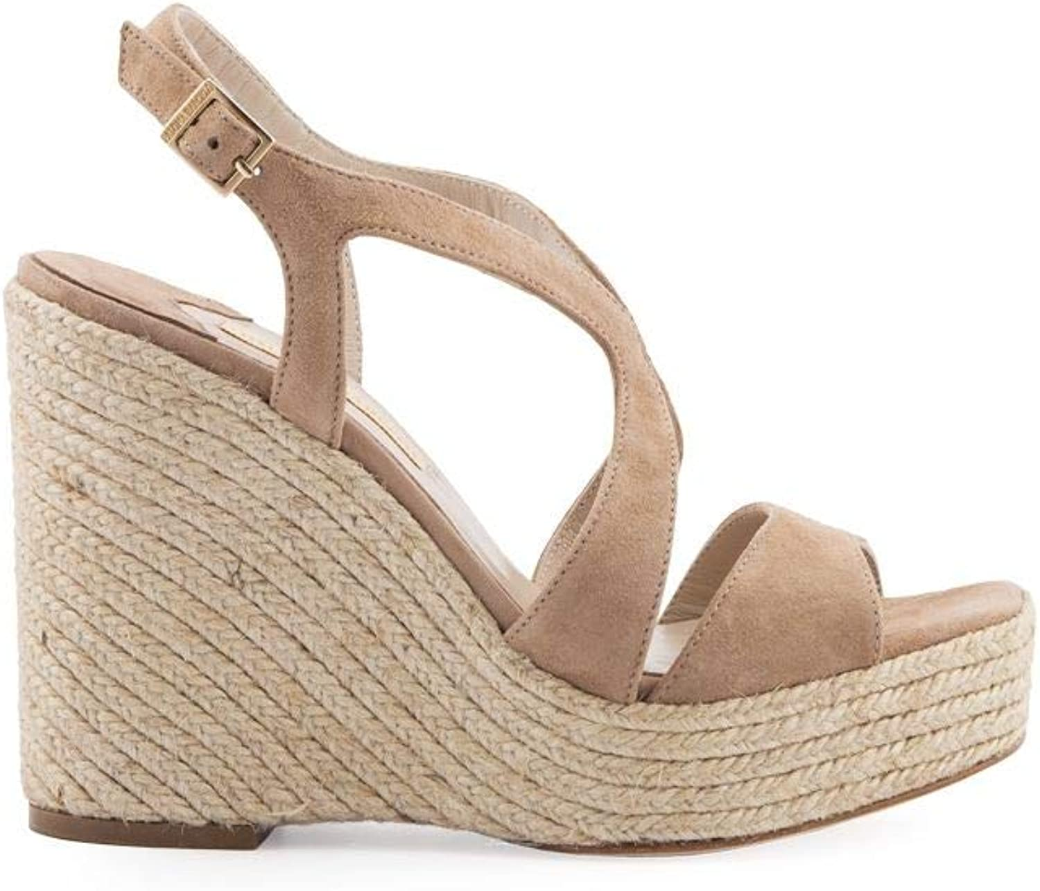 PALOMA BARCELó Women's FECOBEIGE Beige Leather Wedges