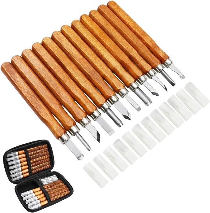 449 opinioni per MAIKEHIGH 14Pcs Kit di strumenti per intaglio del legno- Scalpelli per intaglio